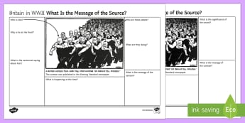 WWII Churchill Source Analysis Differentiated Activity Sheets - winston churchill, world war two, gcse, source analysis, cartoon, david low, phoney war, nazi german