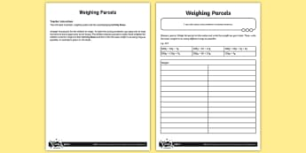 Weighing Parcels Activity - Number and Place Value, maths mastery, year 3, fun maths, hundreds, tens, ones, number value,practic