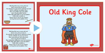 Old King Cole Nursery Rhyme PowerPoint - powerpoint, nursery
