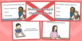 Our Country Northern Ireland Challenge Cards - northern ireland