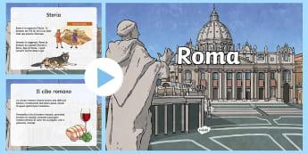 Informazioni su Roma Presentazione Powerpoint - cultura, romana, italiano, italian, materiale, scolastico, lazio, san, pietro