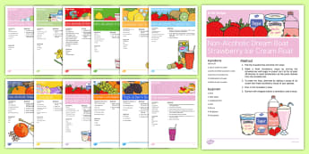 Non-Alcoholic Drinks Resource Pack - Hydration and Nutrition, Drinks, Food, Health, Welbeing, Staff, Residents, Activity Co-ordinators, S