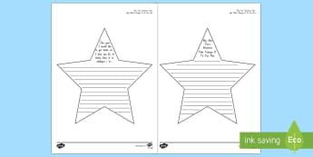 New Year Resolution Stars Activity Sheet English/Maori  - New Year's Resolution, Stars, Activity Sheet, Te Reo Māori, Ngā Tatūnga, worksheet