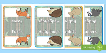 Editable Group Names Folded Signs Woodland Animals Table Signs - Editable Group Names Folded Signs Woodland Animals Table Signs - Woodland Animals, group signs, grou