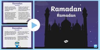 KS1 Ramadan Information PowerPoint English/Polish - KS1 Ramadan Information PowerPoint - ramadan, information, powerpoint, ramadam, ramadhan, pp, ppt,EA