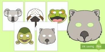 Tiddalick the Frog Role Play Masks-Australia - Australian Aboriginal Dreamtime Stories, tiddalick the frog masks, drama, acting, performing, tiddal