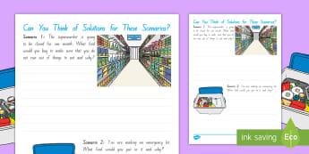 Food Scenario Activity - Science, Dehydration, Fruit, Senses, Observations, Year 1-3