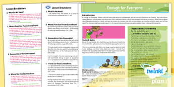 Geography: Enough for Everyone Year 5 Planning Overview CfE