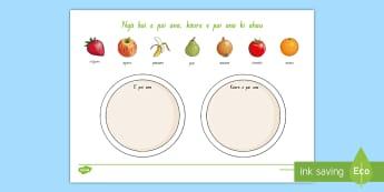 Foods I Like and Dislike Activity Sheet - Te Reo Māori  - Foods, Likes and Dislikes, Te Reo Maori, Fruit, Food Vocabulary