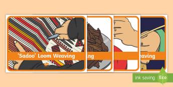 Emirati Handicrafts Display Posters - Emirati Handicrafts, UAE heritage, UAE culture, weaving, embroidery, UAE History
