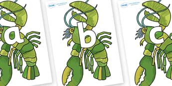 Phoneme Set on Lobster - Phoneme set, phonemes, phoneme, Letters and Sounds, DfES, display, Phase 1, Phase 2, Phase 3, Phase 5, Foundation, Literacy