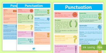 Punctuation Poster - punctuation, punctuation prompt, punctuation aid, punctuation reminder, punctuation definitions, what punctuation is for, vcop, ks2