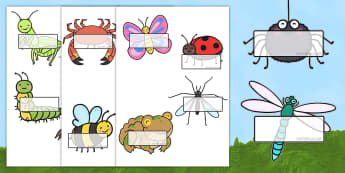 Minibeasts Self Registration - self reg, signs, labels, name tags