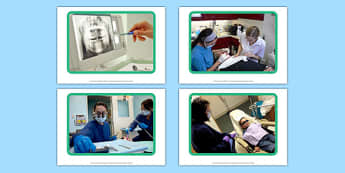 Dentist Display Photos - Dentist, dentist chair, toothbrush, toothpaste, tweezers, healthy, teeth gums, mouth