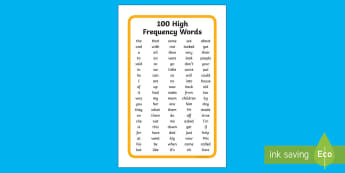 IKEA Tolsby 100 High Frequency Words List - ikea tolsby, ikea, tolsby, high frequency words, 100 high frequency, words, word list