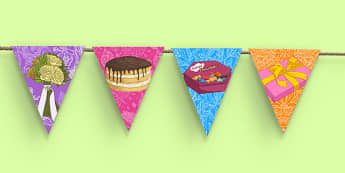 70th Birthday Party Picture Bunting - 70th birthday party, 70th birthday, birthday party, bunting