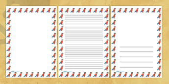 Pirate Parrot Portrait Page Borders- Portrait Page Borders - Page border, border, writing template, writing aid, writing frame, a4 border, template, templates, landscape