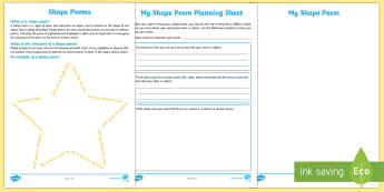 Shape Poem Writing Template - Literacy, Interpreting, analysing, evaluating, english, poetry, writing, poems, poetry, shape poems,