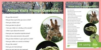Animal Self-Quizzing Prompt Questions - Intergenerational Ideas, Activites, Activity Co-ordinator, Ideas, Animals, Prompt, Conversation, Com