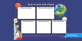 Back to Earth with a Bump Review Writing Frames - Back to Earth with a Bump Review Writing Frames Writing Frame, writting, retelling events, story, na
