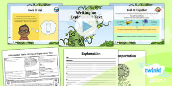 Plants: Jack and the Beanstalk: Information Texts 3 Y3 Lesson Pack - Traditional stories, life processes, living things, explanation texts, seed