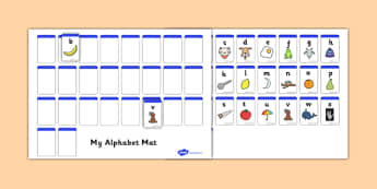 AZ Alphabet Mat Cut and Stick Activity - ESL Alphabet Resources