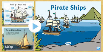 Pirate Ship information PowerPoint - pirates, pirate ships, pirate ships powerpoint, pirate ship diagram, pirates powerpoint, ships powerpoint