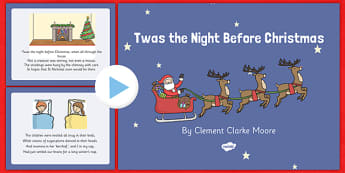 Twas the Night Before Christmas Sensory Poem PowerPoint - twas the night before christmas, sensory poem, poem, sensory, powerpoint