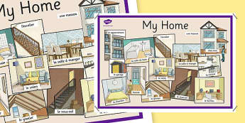 My Home Display Poster French - french, home, houses and homes, house, my home, display poster
