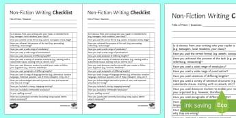 Non Fiction Writing Checklist - AQA GCSE Specific Question Resources, structure, language, OCR GCSE Specific Question Resources, Edu