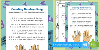 Counting Numbers Song - Singing, song time, maths, numeracy, number, counting