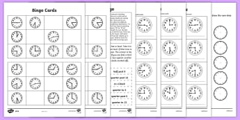 Telling the Time Worksheets - Maths Resources, maths, numeracy, ks1, time, telling, telling the time, tell, unit of me