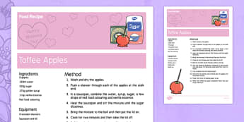 Mother's Day Toffee Apples Recipe - australia, Mother's Day, cooking, recipes, procedure, food, toffee apples, reading