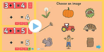Autumn Themed Addition PowerPoint - autumn, addition, adding, plus, powerpoint, addition powerpoint, maths, numeracy, numeracy powerpoint, themed addition