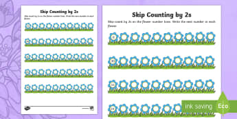 Mother's Day Skip Counting by 2s Activity Sheet - Mother's Day Maths, maths, mother, mother's day, mum, Worksheet, skip counting, number, counting,