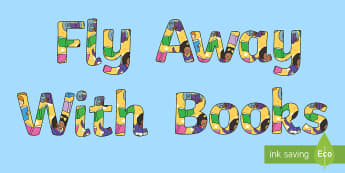 Fly Away With Books Display Lettering - Fly Away With Books Display Lettering   - display lettering, letering, displaylettering, display let