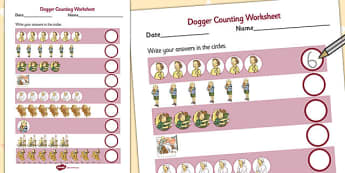 Counting Sheet to Support Teaching on Dogger - count, worksheets, worksheet, tasks