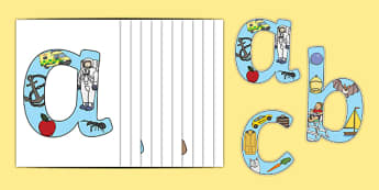 Alphabet Phonics Display Letters