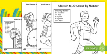 Paralympics Addition to 20 Colour by Number