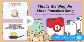 This Is the Way We Make Pancakes Song PowerPoint - EYFS, Early Years, Pancake Day, Shrove Tuesday, pancakes, fat tuesday