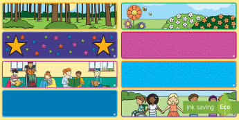 Editable Classroom Banners - display, banner, editable.