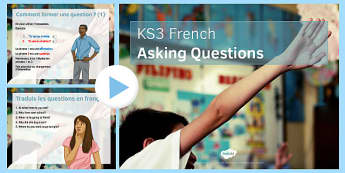 Questions Presentation French - modern foreign languages, speaking