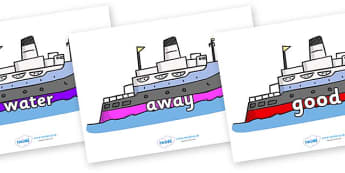 Next 200 Common Words on Boats - Next 200 Common Words on  - DfES Letters and Sounds, Letters and Sounds, Letters and sounds words, Common words, 200 common words