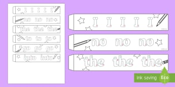 Handwriting Phase 2 Tricky Words Paper Chain Activity - tricky words, paper chain, phase 2, phonics, handwriting, spelling