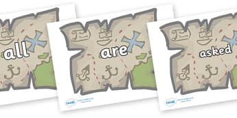 Tricky Words on Treasure Maps - Tricky words, DfES Letters and Sounds, Letters and sounds, display, words