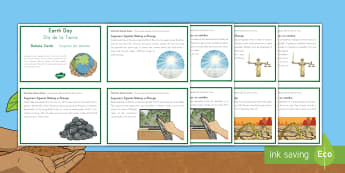 Earth Day Debate Cards US English/Spanish (Latin) - Earth Day (April 22nd), debate, scenario, climate change, global warming, geography, global citizens
