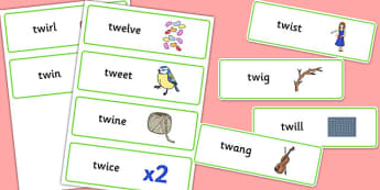 TW Word Cards - sen, sound, special educational needs, tw, word cards