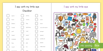 I Spy With My Little Eye Activity Sheet - I Spy, visual recognition, activity, worksheet, finding, where