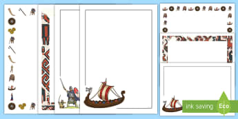 Viking Page Border  Page Border Pack - Viking Page Borders - Vikings, England, page border, border, writing template, writing aid, writing