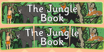 The Jungle Book Display Banner - jungle book, display banner, display